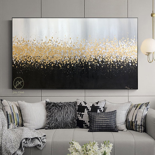 Large Abstract Oil Painting Original art on Canvas by Julia Kotenko