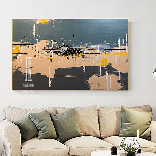 Extra Large wall art,Abstract Painting Original,Large Canvas Art by Julia Kotenko