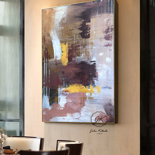 Original Abstract Oil Painting-Modern Decor|Textured Art Decor| on Canvas by Julia Kotenko