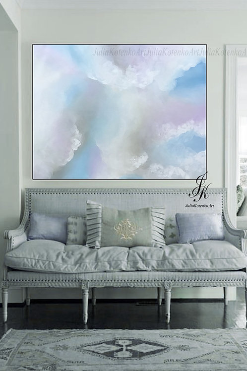 Extra Large Original Abstract Sky Oil Painting On Canvas by Julia Kotenko