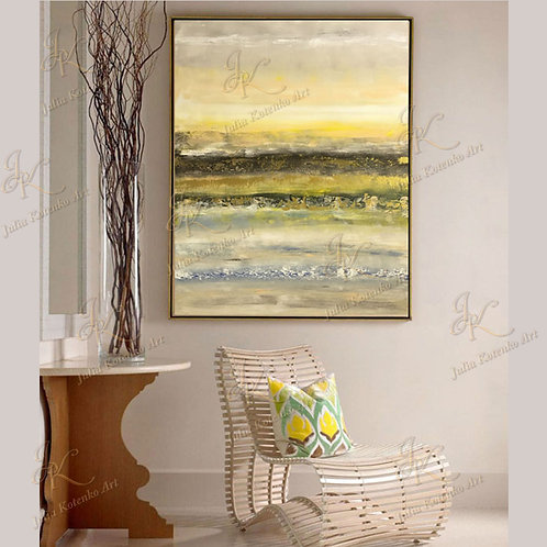 Original Abstract Oil Painting Textured Painting On Canvas by Julia Kotenko