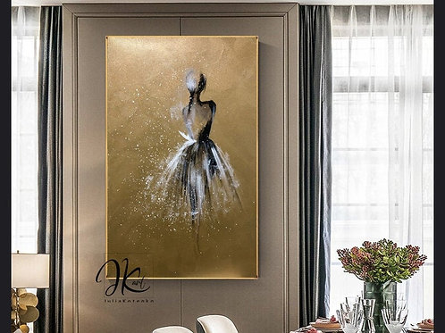 Baillerina Painting Gold Painting Wall Decor