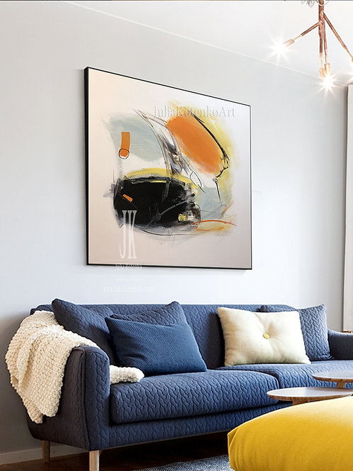 White Painting, Wall Art Abstract Painting,Large Abstract Artwork by Julia Kotenko