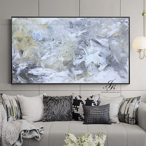Large Wall Art, Abstract Painting,Canvas Art,Oil Painting on Canvas by Julia Kotenko