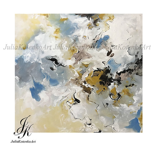 Large Abstract Oil Painting Abstract Painting by Julia Kotenko