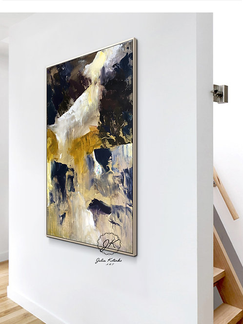 Abstract Painting, Large Wall Art, Textured Art on Canvas by Julia Kotenko