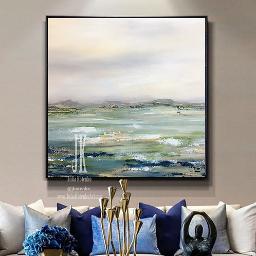Canvas Art Large, Oil Painting Landscape,Abstract Painting Original  by Julia Kotenko