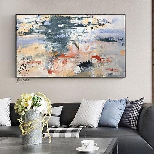 Abstract Painting on Canvas, Large Wall Art, Textured Art by Julia Kotenko