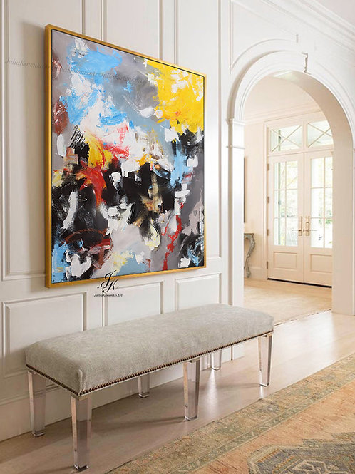 Original Large Abstract Painting on Canvas by Julia Kotenko