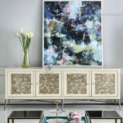 Original Large Abstract Painting Wall Art on Canvas by Julia Kotenko