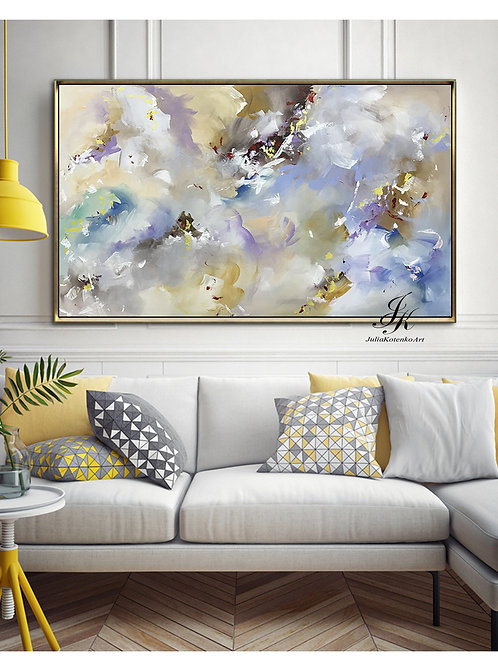 Large Abstract Oil Painting, Large Wall Art on Canvas by Julia Kotenko