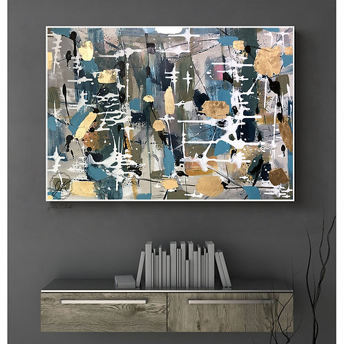 Large Wall Art, Original Abstract Painting, Modern Oil Painting by Julia Kotenko