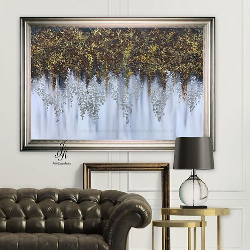Large Wall Art, Textured Art, Large Canvas Art by Julia Kotenko
