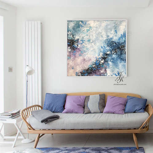 Original Painting Textured Art Abstract Painting On Canvas by Julia Kotenko
