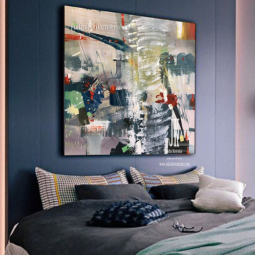 Oversize Abstract Painting On Canvas Oil Painting Original Extra Large Original Abstract Painting by Julia Kotenko