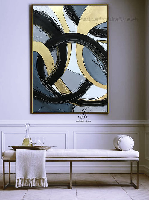 Abstract Painting, Large Oil Painting, Large Wall Art on Canvas by Julia Kotenko