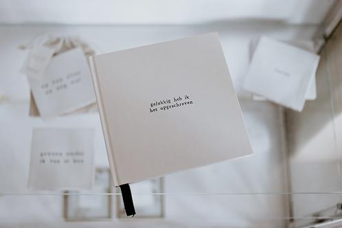 Notitieboek - gelukkig heb ik het opgeschreven