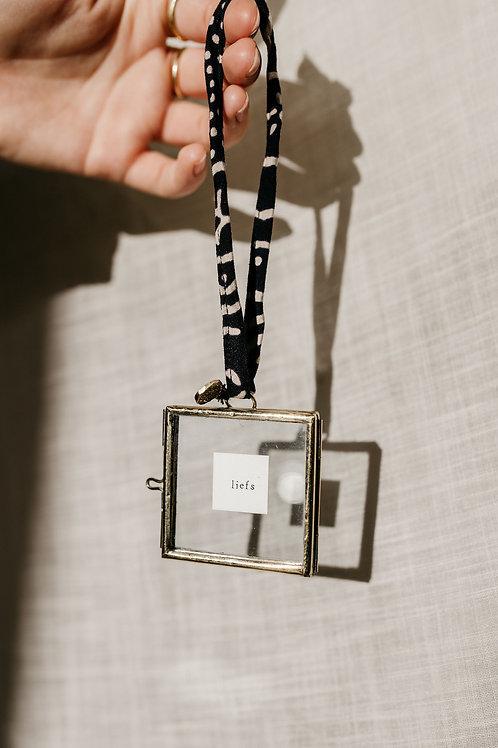 Mini lijstje hanger met tekst