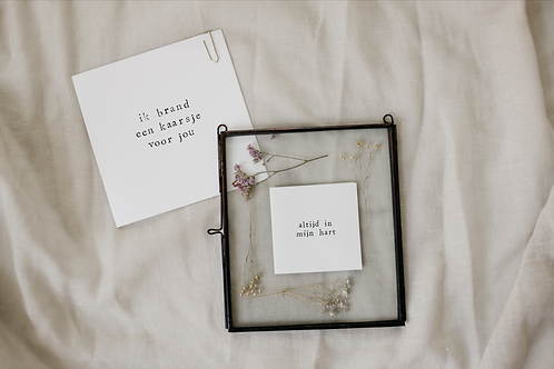 Lijstje altijd in mijn hart + kaartje