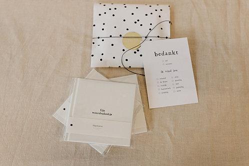 Bedankje voor de juf/meester kaartje + notitieboekje