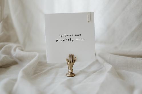 Cadeau: handje + kaart
