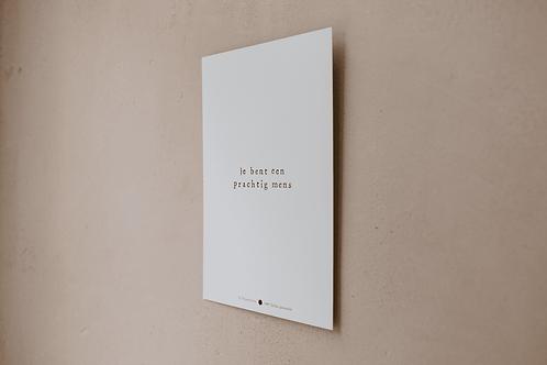Poster - je bent een prachtig mens