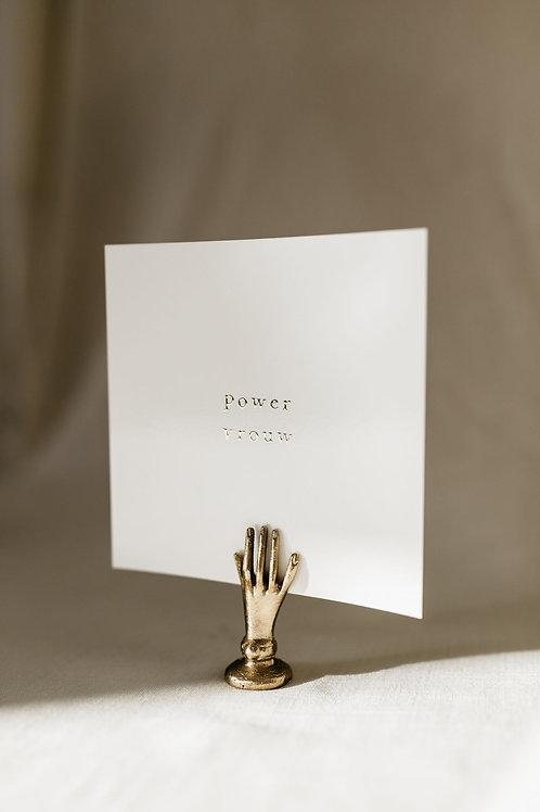 Cadeau: handje + kaart goudfolie