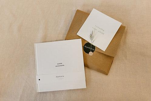 Notitieboek + goudfolie kaart