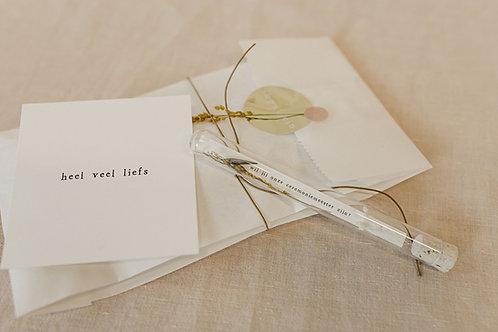 Buisje - trouwen - ceremoniemeester - zwangerschap + kaartje
