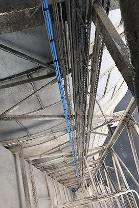 Installation de câbles en zone ATEX sur silos