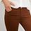 Thumbnail: Pantalon cognac slim longueur 7/8ème I.Code