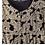 Thumbnail: Robe longue en voile jacquard IKKS motifs baroque métallisés