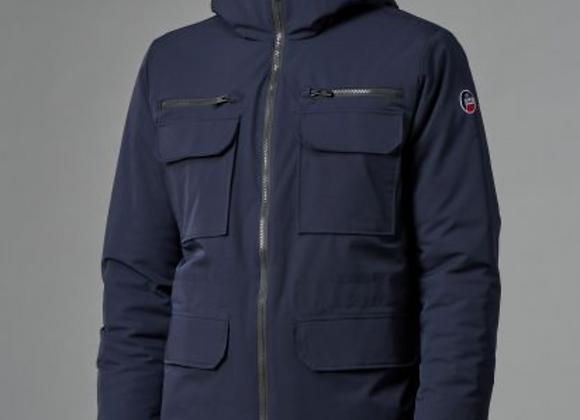 Manteau Fusalp à capuche bleu marine