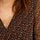 Thumbnail: Robe noire imprimé petits cœurs cognac I.Code