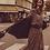 Thumbnail: Robe longue noire imprimé cachemire bohème I.Code