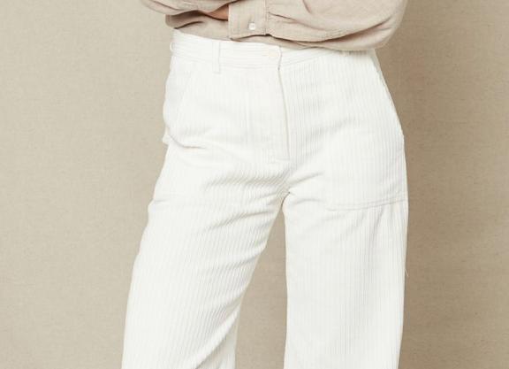 Pantalon velours blanc côtelé HARTFORD