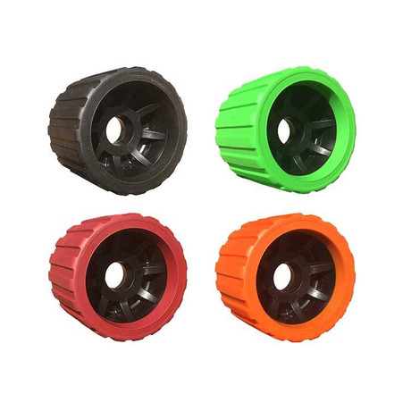 Non marking wobble rollers available in a range of colours