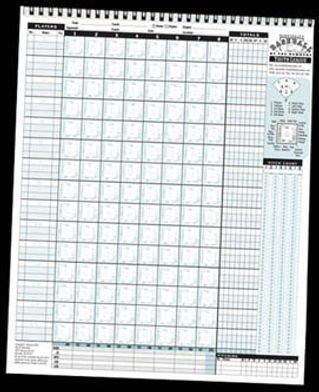 Youth baseball scorekeeping sheet