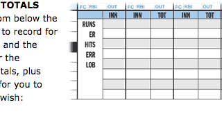 Baseball Scorebook data tracking