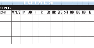 Baseball scorekeeping pitching statistics