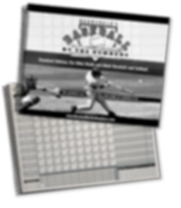 Baseball by the Numbers scorebook covers