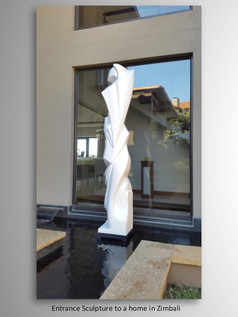 Abstract Sculpture to water feature  Zimbali Estate