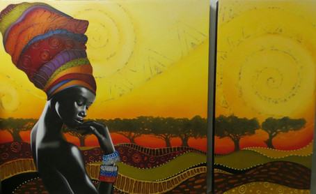 """oil on canvas """"African dream"""""""