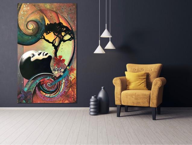 """Oil on Canvas """"African Rain"""""""