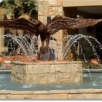 Eagle sculptures to Water features at Eagles Canyon Estate