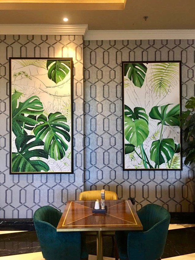 Botanical paintings Suncoast Casino