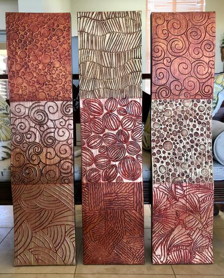 Timber 2D sculpted wall panels