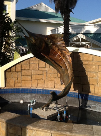 Marlin Sculpture to Hemingway Casino water feature