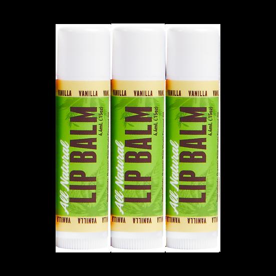 Lip Balm - Vanilla - 3 pack