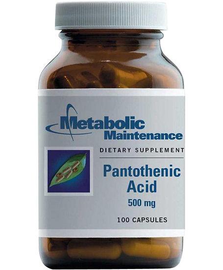 Pantothenic Acid 500 mg - 100 caps